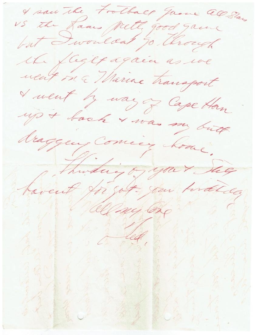 August 18 1952 Letter Written By Ted Williams - 2