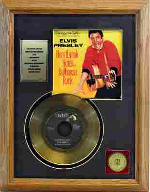 Elvis Presley Gold Plated Record