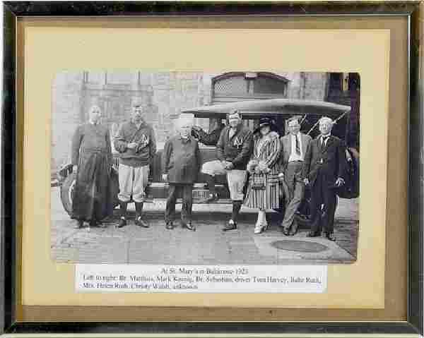 1923 Era Babe Ruth Photo St. Mary's Baltimore