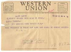 September 25 1952 Telegram From Ted Williams
