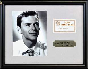 Frank Sinatra Caesars Palace Dining Card