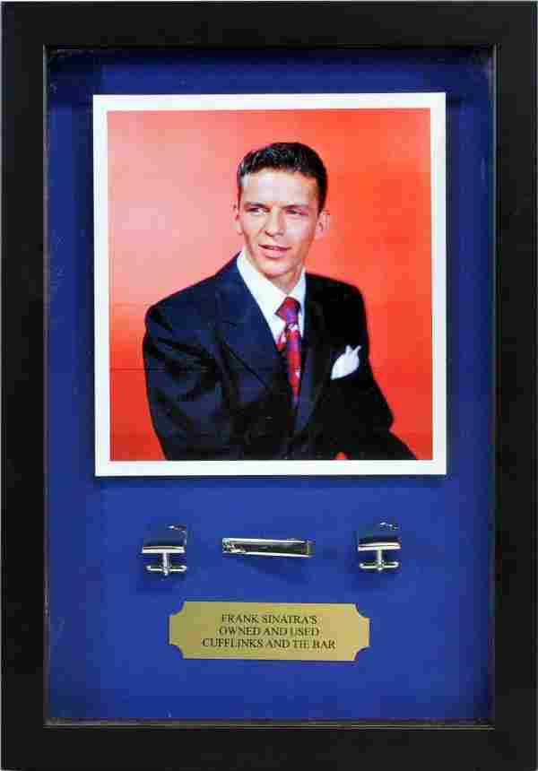 Franks Sinatra Cuff Links And Tie Bar