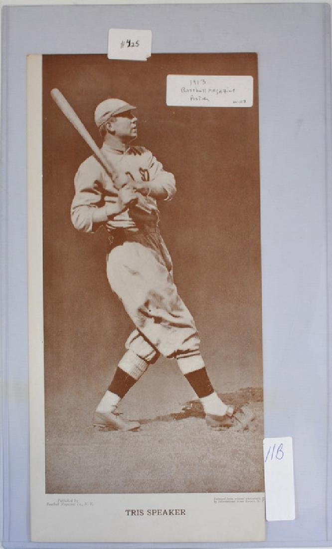 1913 Tris Speaker Baseball Magazine Poster