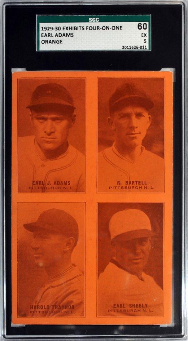 1929-30 Exhibit Four On One Earl Adams Orange