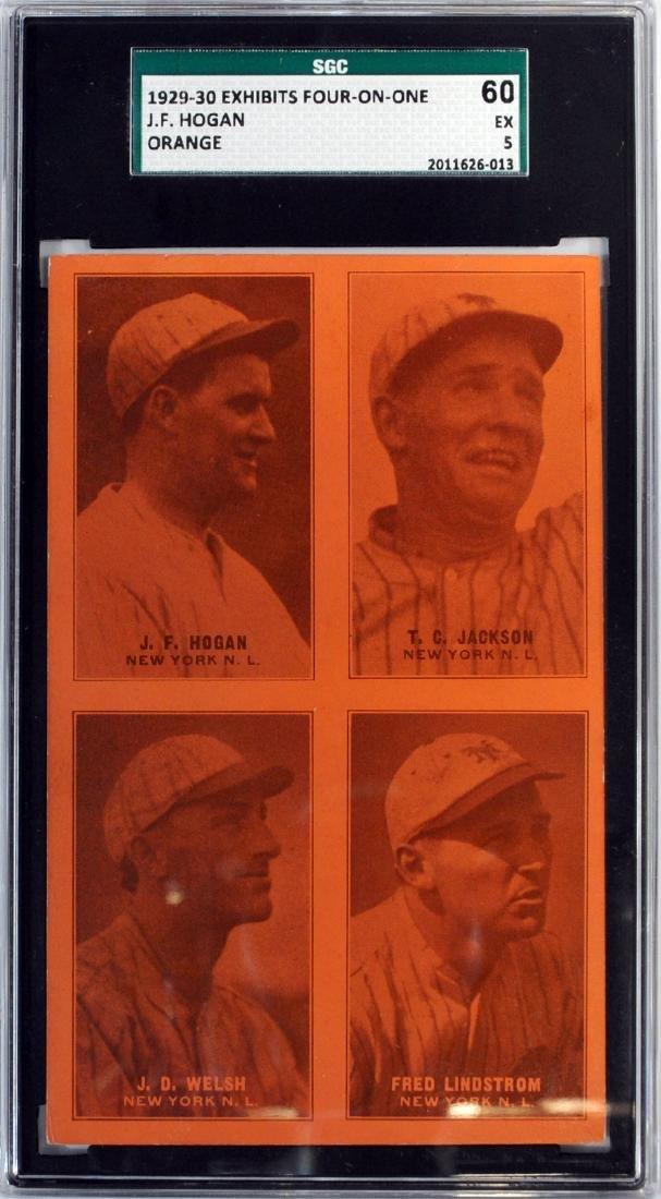 1929-30 Exhibit Four On One Jf Hogan Orange