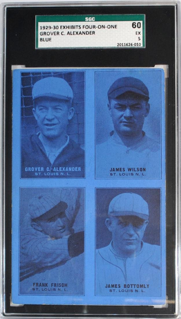 1929-30 Exhibit Four On One Grover Alexander Blue
