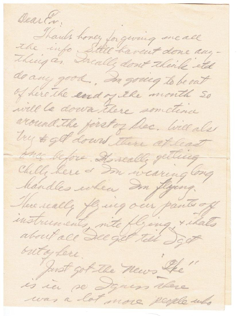 November 5 1952 Letter Written By Ted Williams