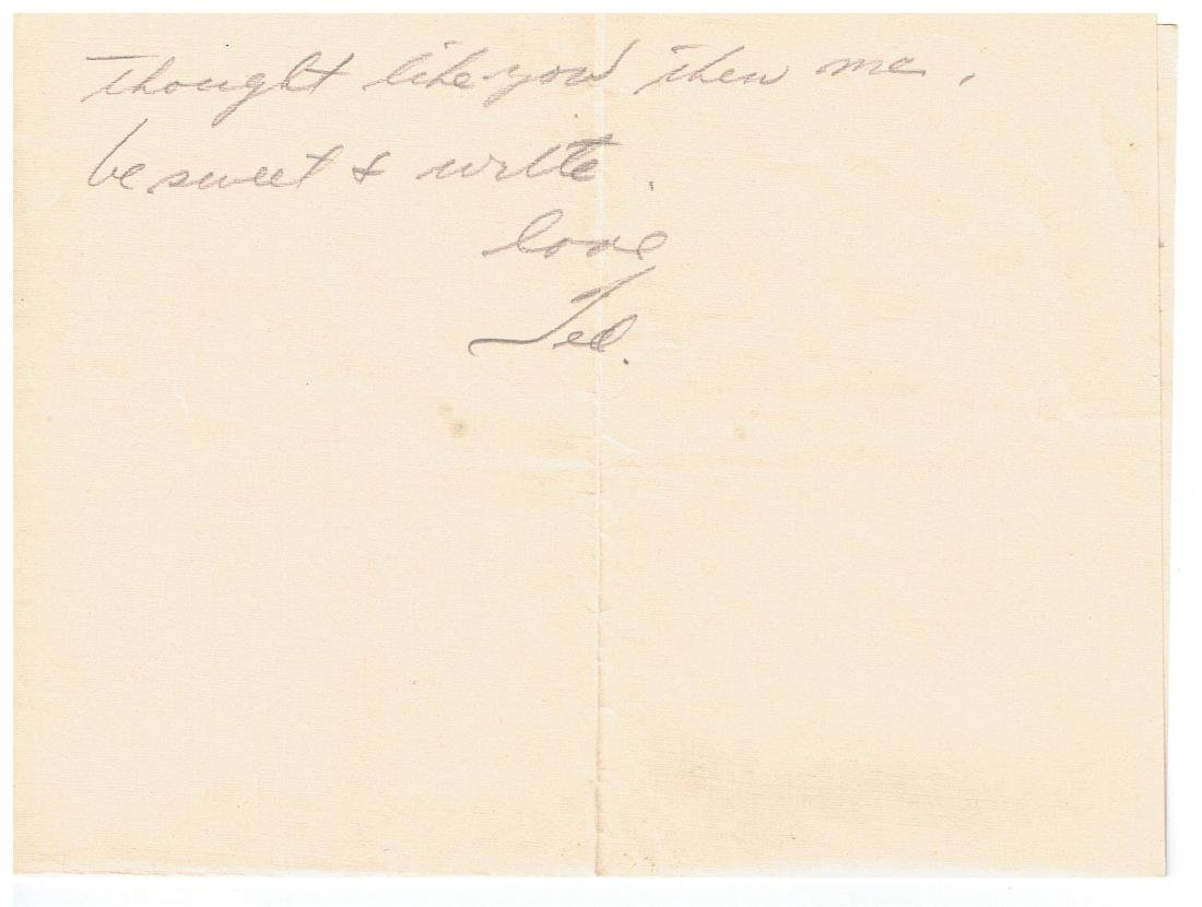 November 5 1952 Letter Written By Ted Williams - 2