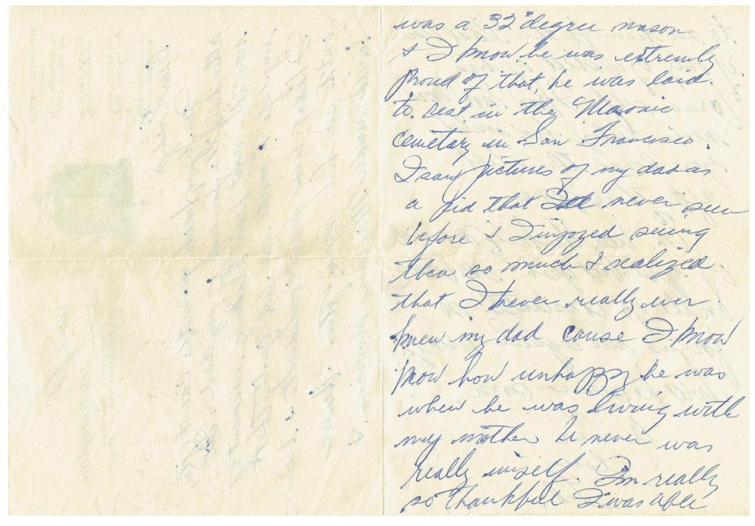 November 21 1952 Letter Written By Ted Williams - 2