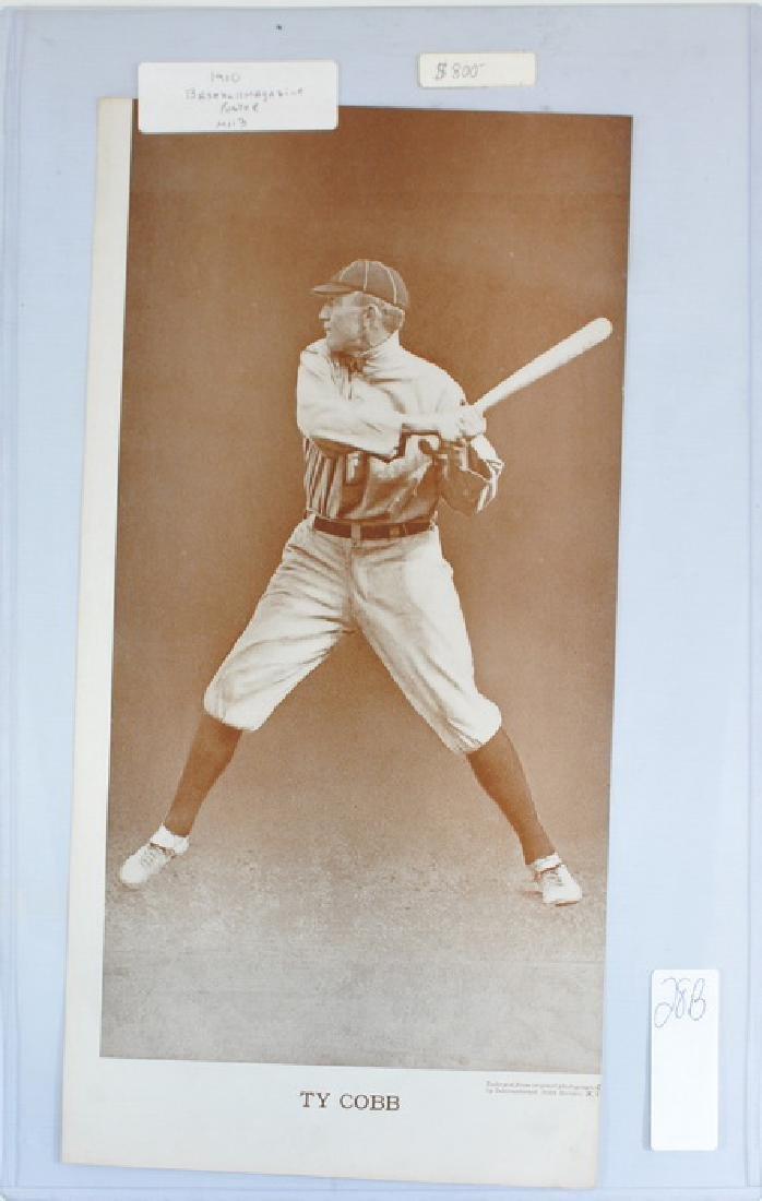 1910 Ty Cobb Baseball Magazine Poster