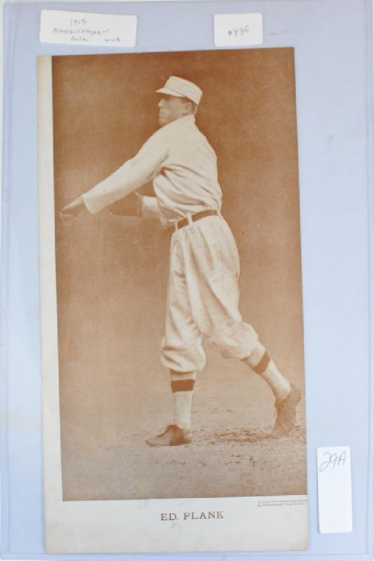 1913 Eddie Plank Baseball Magazine Poster