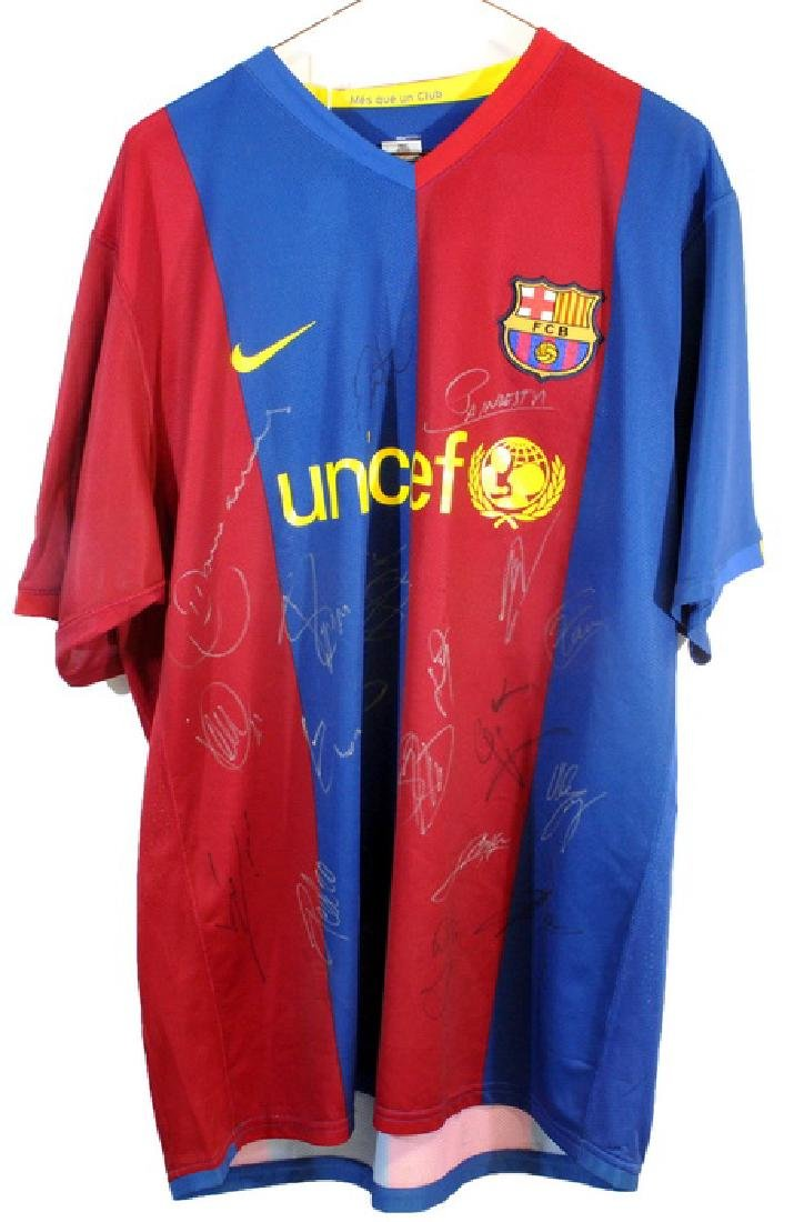 Spain Signed Championship Soccer Jersey