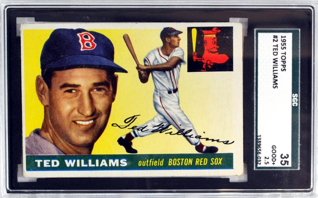 1955 Topps Ted Williams Card #2