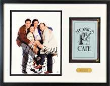 Seinfeld Signed Monks Cafe Piece