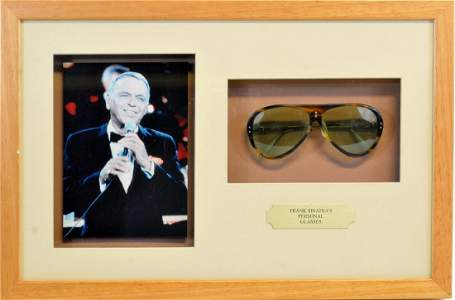 Frank Sinatra Personally Owned Aviator Sunglasses