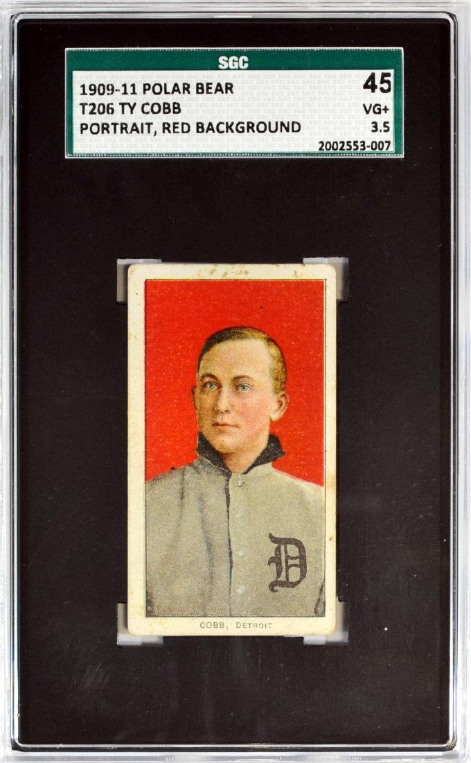 1909-11 T206 Ty Cobb Red Background