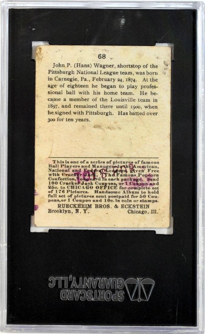 1915 Cracker Jack Honus Wagner Psa 10 - 2