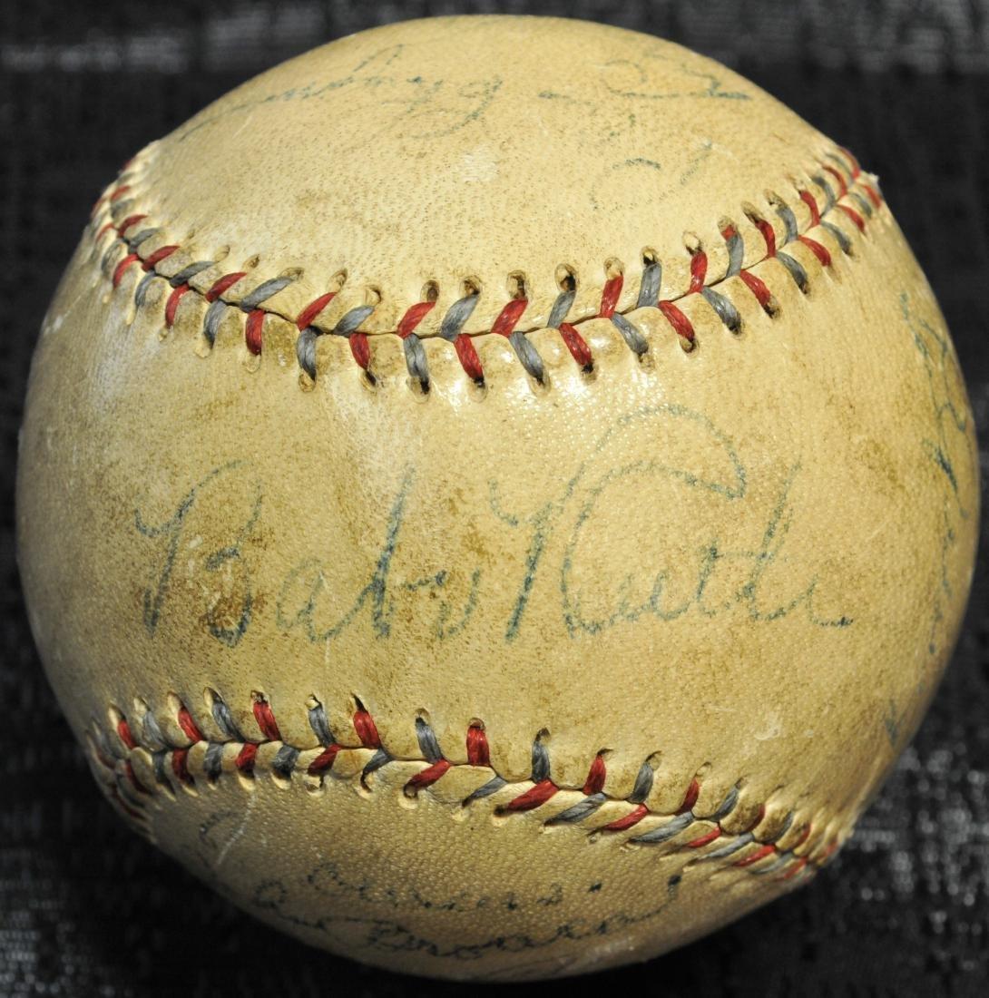 Babe Ruth/lou Gehrig 1934 Signed Baseball Psa Loa