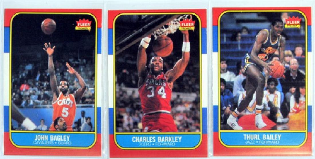 Near Complete 131 Card 1986 Fleer Basketball