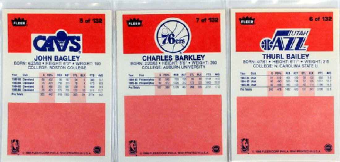 Near Complete 131 Card 1986 Fleer Basketball - 2