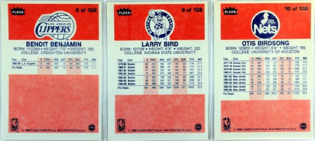 Near Complete 131 Card 1986 Fleer Basketball - 4