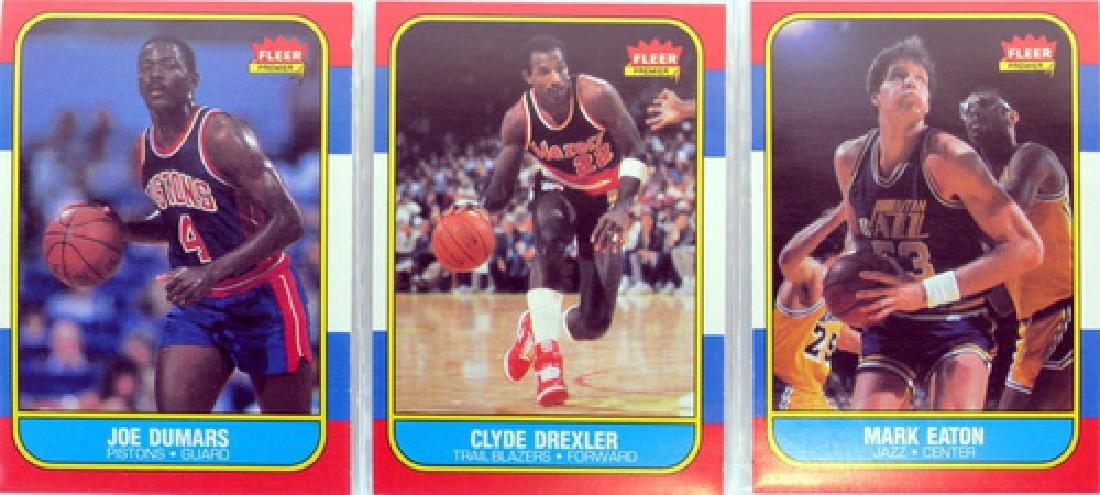 Near Complete 131 Card 1986 Fleer Basketball - 5