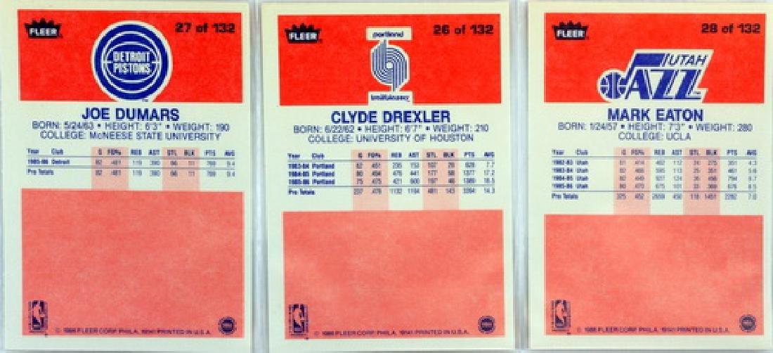 Near Complete 131 Card 1986 Fleer Basketball - 6