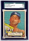 1952 Topps Mickey Mantle Sgc 20 Fair 1.5