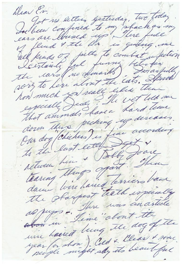 March 5 1953 Letter Written By Ted Williams
