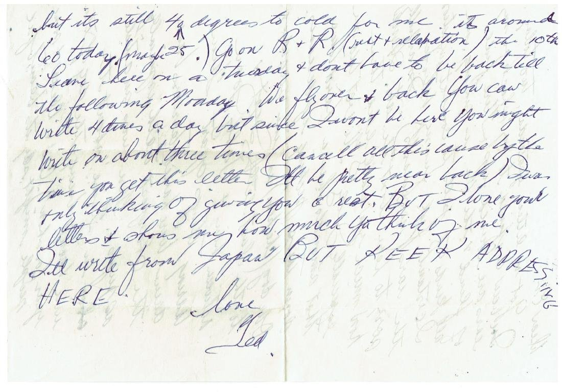 March 5 1953 Letter Written By Ted Williams - 2