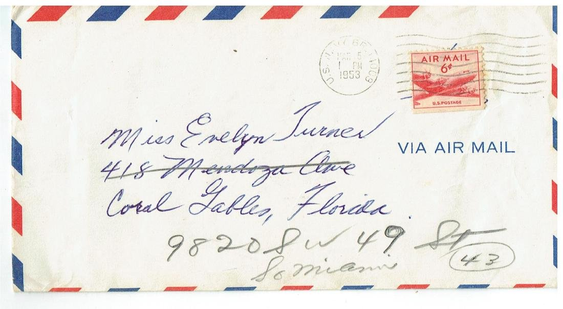 March 5 1953 Letter Written By Ted Williams - 3