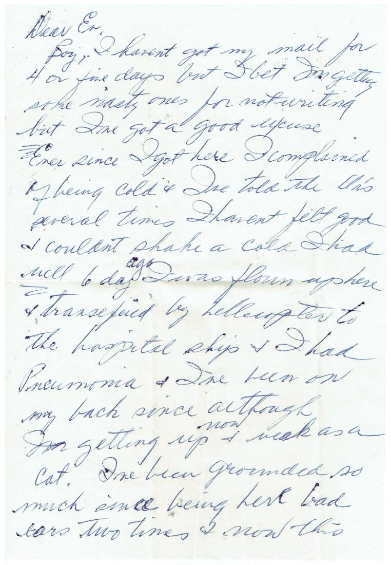March 18 1953 Letter Written By Ted Williams