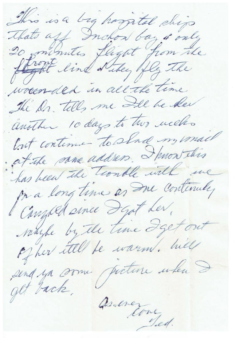 March 18 1953 Letter Written By Ted Williams - 2