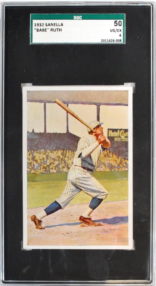 1932 Sanella Babe Ruth Card