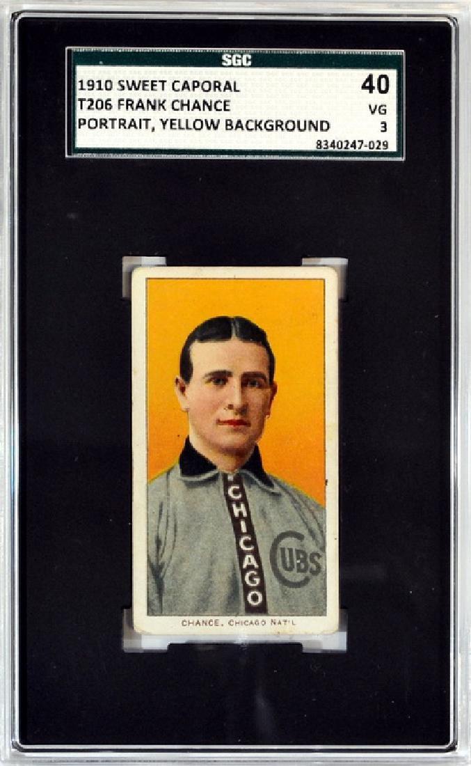 1910 T206 Frank Chance Sgc 40 Vg 3