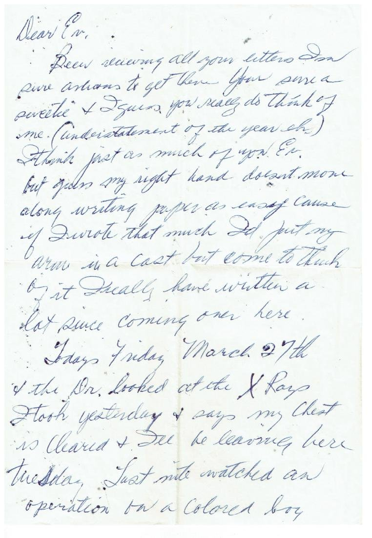 March 27 1953 Letter Written By Ted Williams