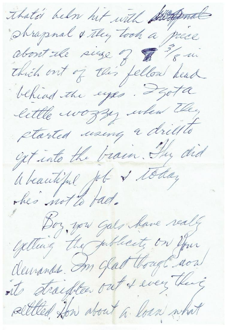 March 27 1953 Letter Written By Ted Williams - 2