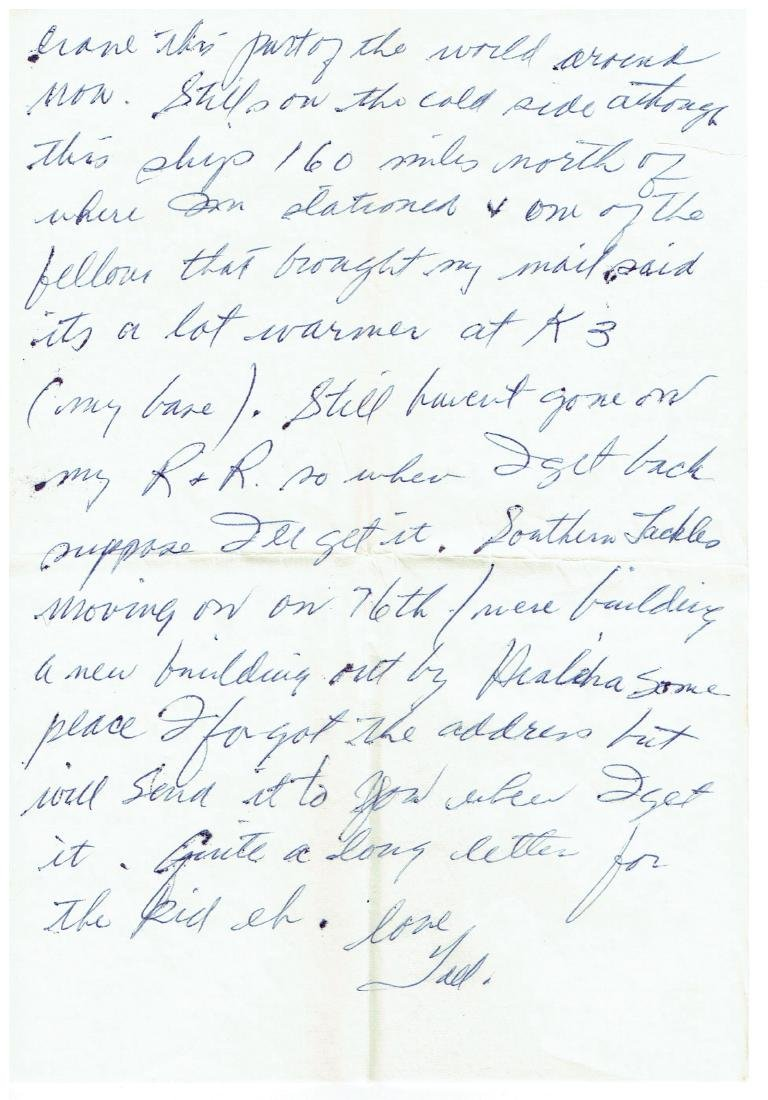 March 27 1953 Letter Written By Ted Williams - 4