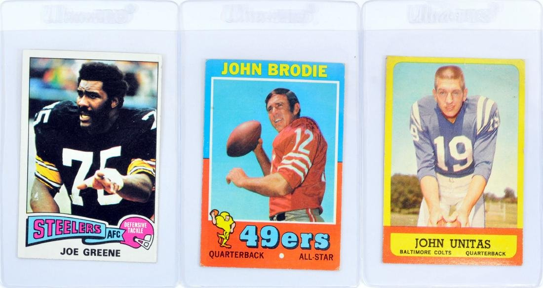 10 Card Hall Of Fame Football Collection