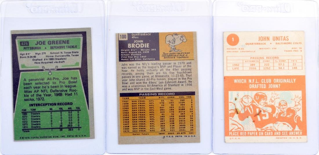 10 Card Hall Of Fame Football Collection - 2
