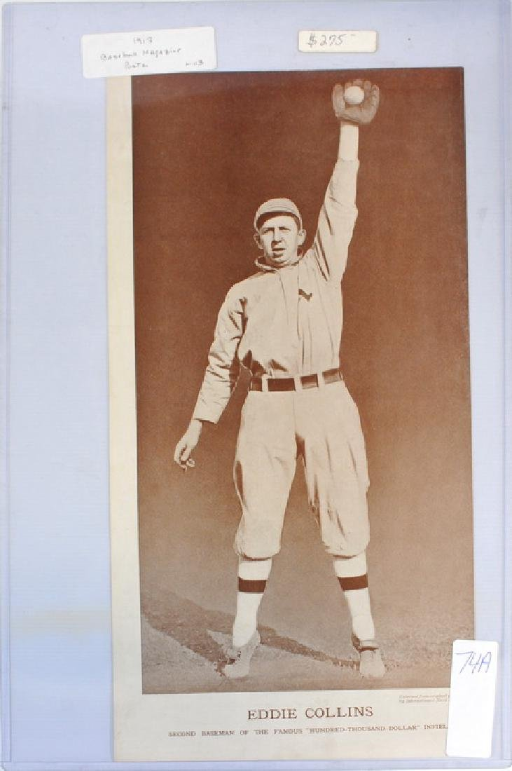 1913 Eddie Collins Baseball Magazine Poster