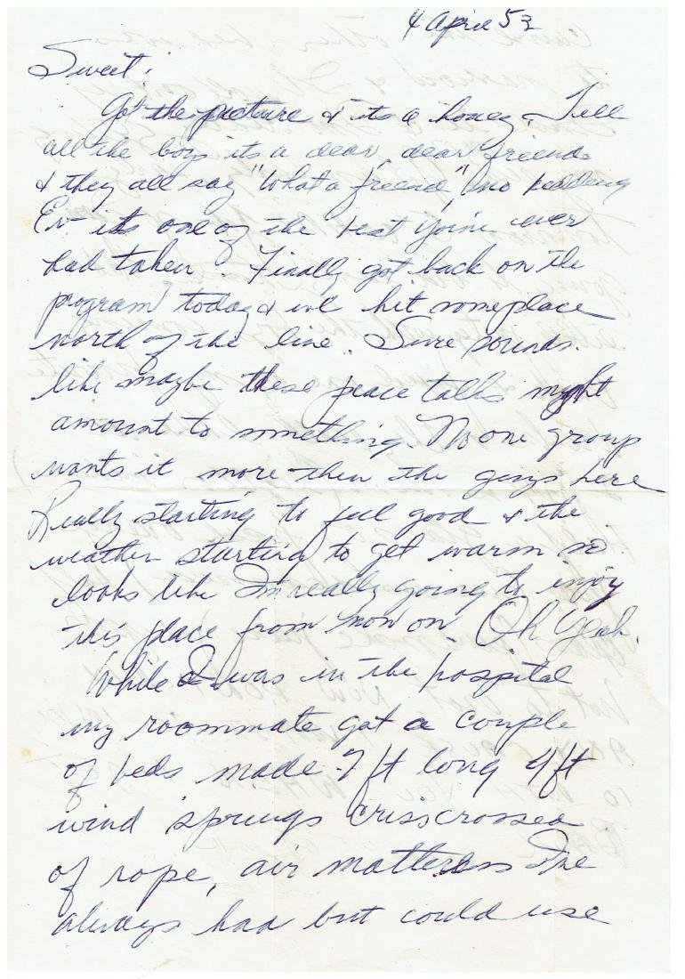 April 4 1953 Letter Written By Ted Williams