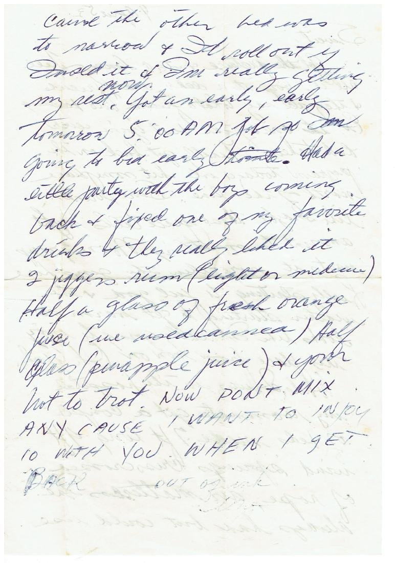 April 4 1953 Letter Written By Ted Williams - 2