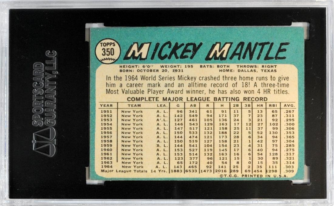 1965 Topps Mickey Mantle #350 - 2