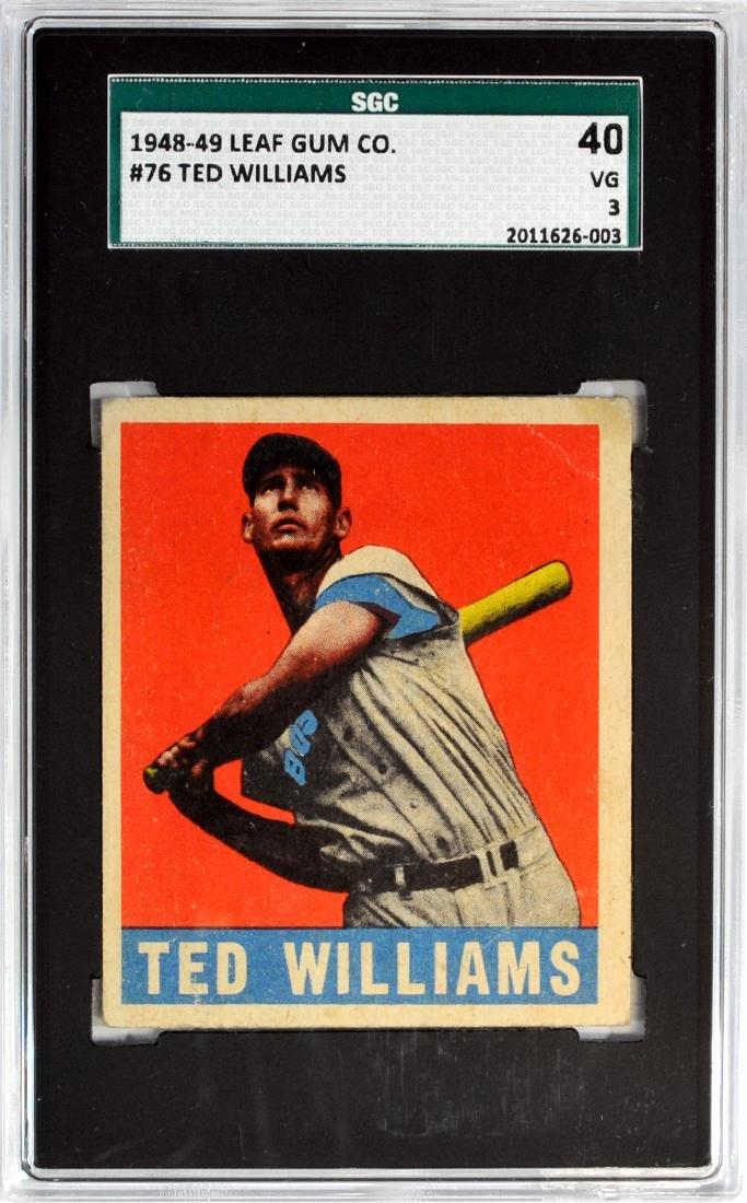 1948 Leaf Ted Williams Card #76