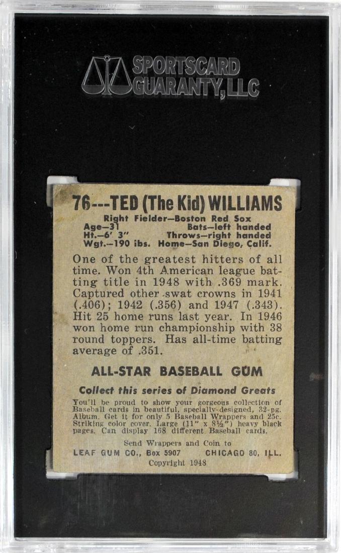 1948 Leaf Ted Williams Card #76 - 2
