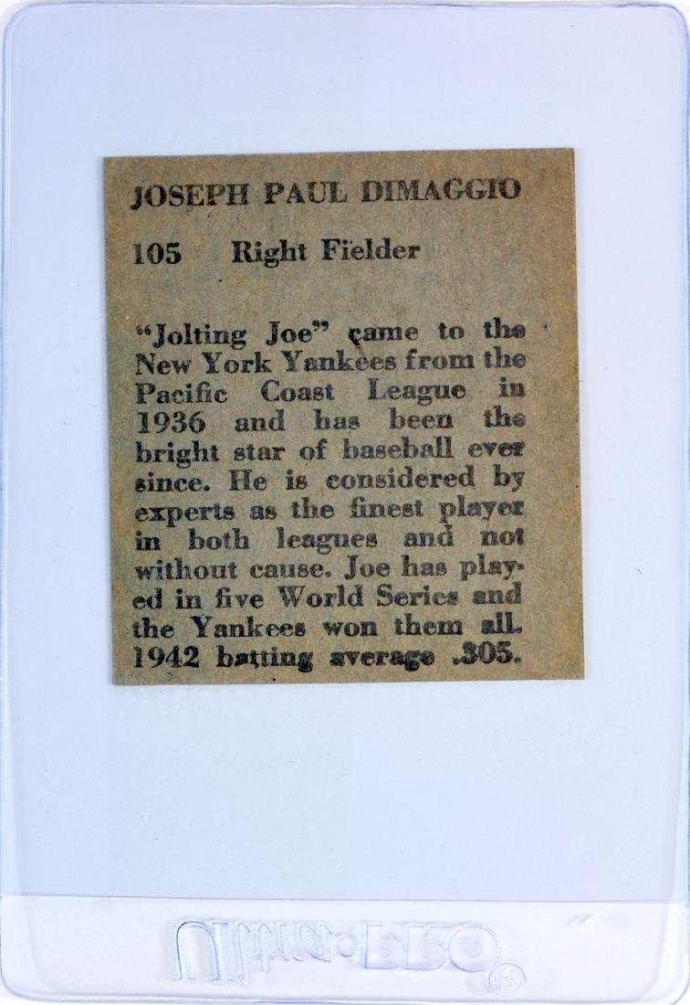 1943 Joe DiMaggio R302-1 Hand Cut - 2