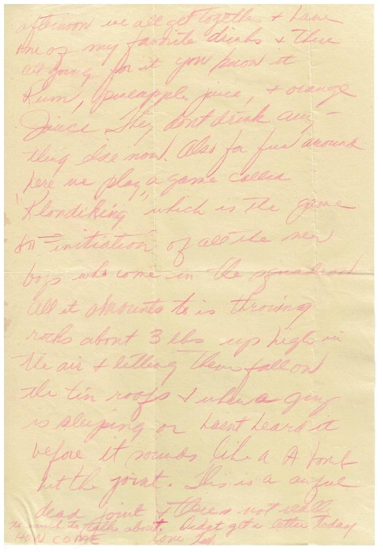 April 11 1953 Letter Written By Ted Williams - 2