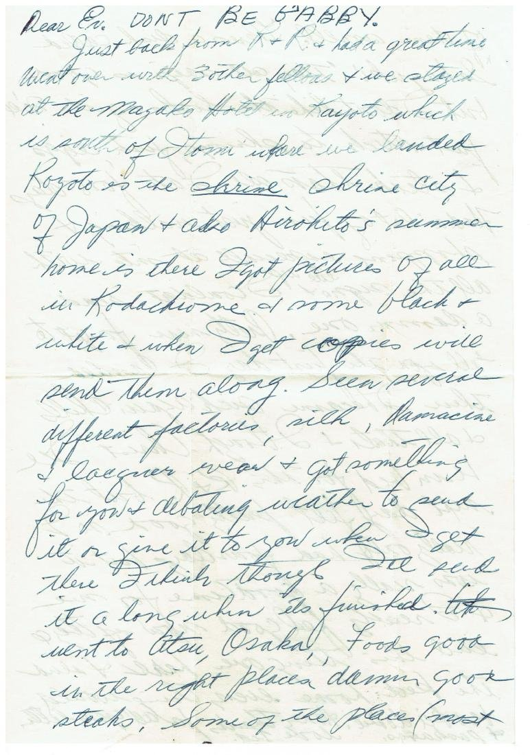 April 21 1953 Letter Written By Ted Williams