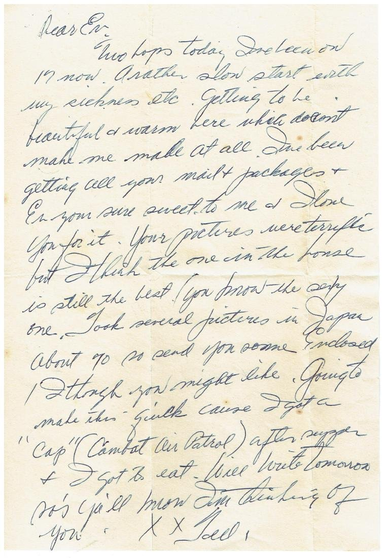 April 24 1953 Letter Written By Ted Williams